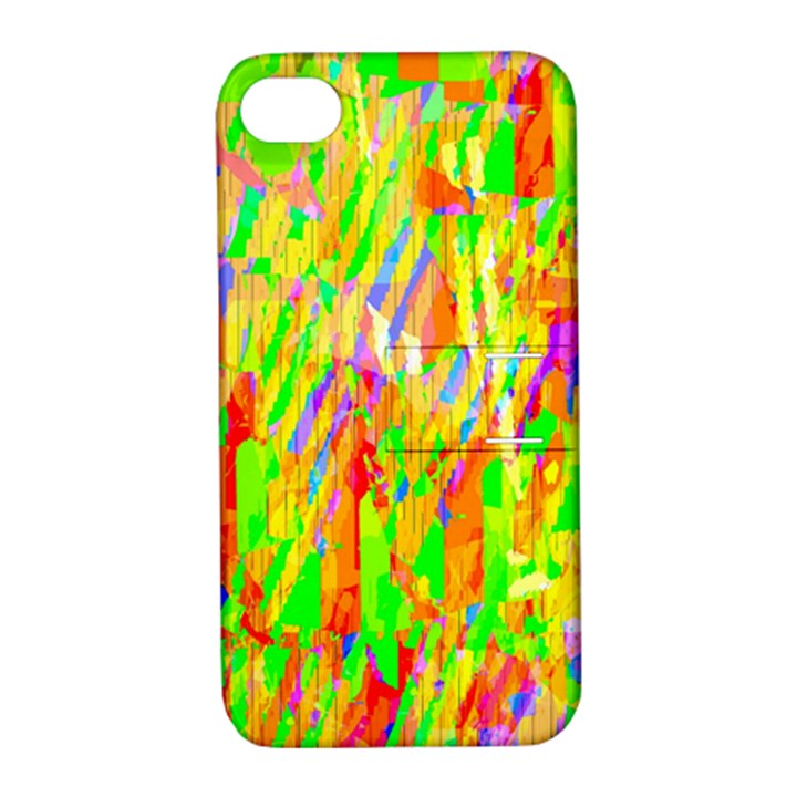 Cheerful Phantasmagoric Pattern Apple iPhone 4/4S Hardshell Case with Stand