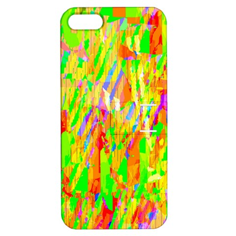 Cheerful Phantasmagoric Pattern Apple iPhone 5 Hardshell Case with Stand