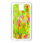 Cheerful Phantasmagoric Pattern Samsung Galaxy Note 3 N9005 Case (White) Front