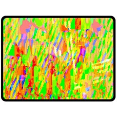 Cheerful Phantasmagoric Pattern Double Sided Fleece Blanket (Large)