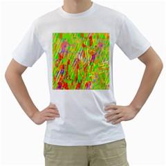 Cheerful Phantasmagoric Pattern Men s T-Shirt (White)