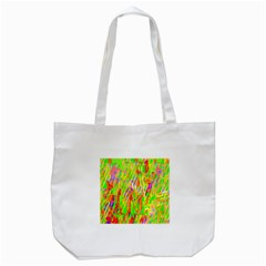 Cheerful Phantasmagoric Pattern Tote Bag (White)