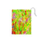 Cheerful Phantasmagoric Pattern Drawstring Pouches (Small)  Front