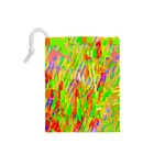 Cheerful Phantasmagoric Pattern Drawstring Pouches (Small)  Back