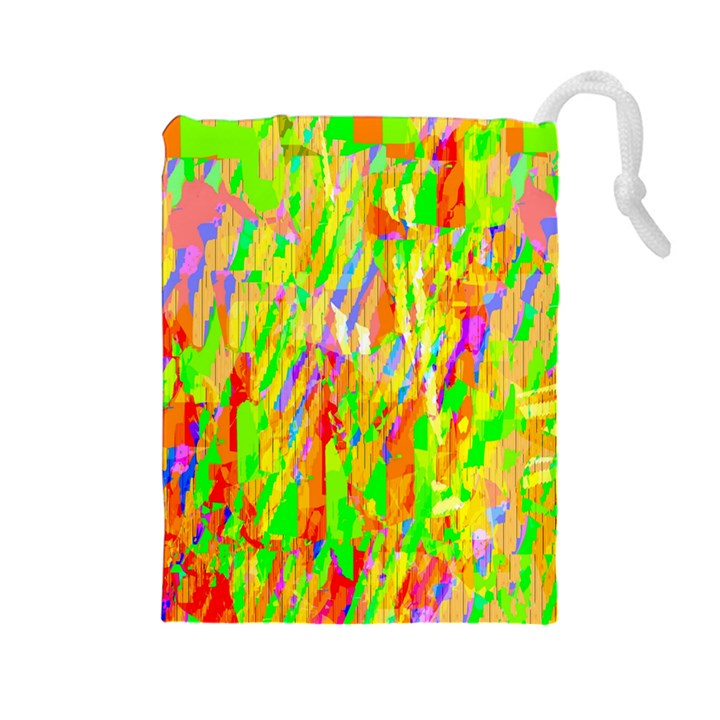 Cheerful Phantasmagoric Pattern Drawstring Pouches (Large)