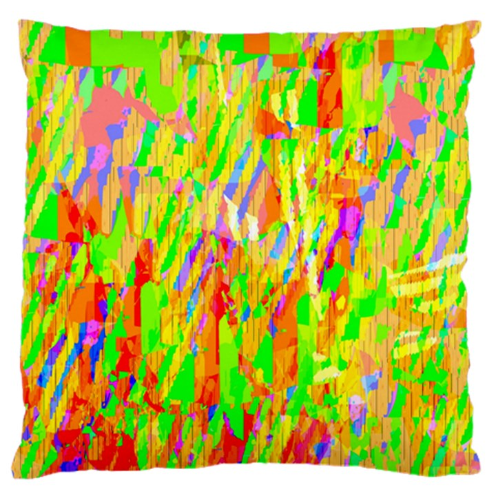 Cheerful Phantasmagoric Pattern Large Flano Cushion Case (One Side)