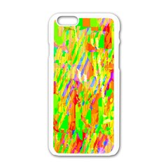 Cheerful Phantasmagoric Pattern Apple iPhone 6/6S White Enamel Case