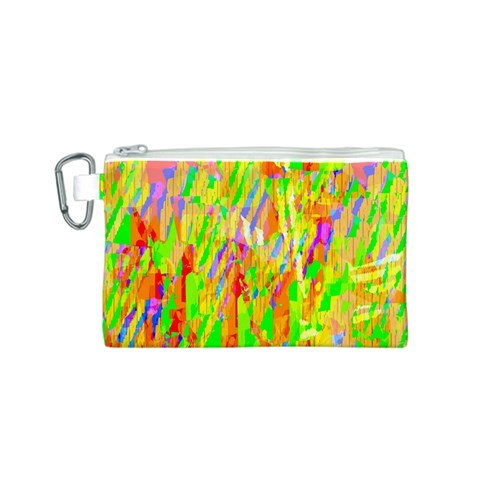 Cheerful Phantasmagoric Pattern Canvas Cosmetic Bag (S)