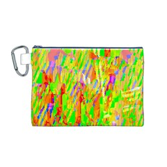 Cheerful Phantasmagoric Pattern Canvas Cosmetic Bag (M)