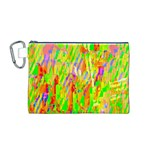 Cheerful Phantasmagoric Pattern Canvas Cosmetic Bag (M) Front