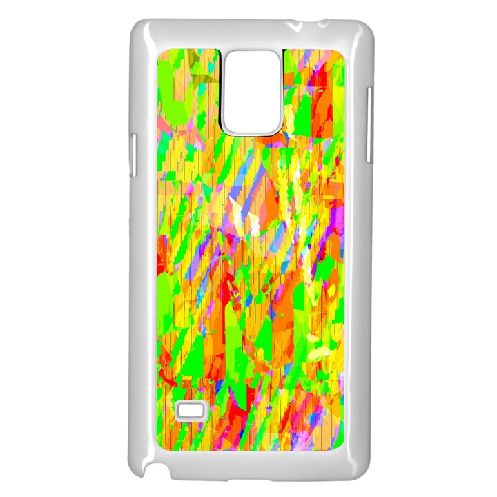 Cheerful Phantasmagoric Pattern Samsung Galaxy Note 4 Case (White)