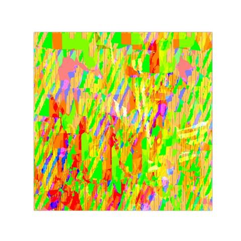 Cheerful Phantasmagoric Pattern Small Satin Scarf (Square)