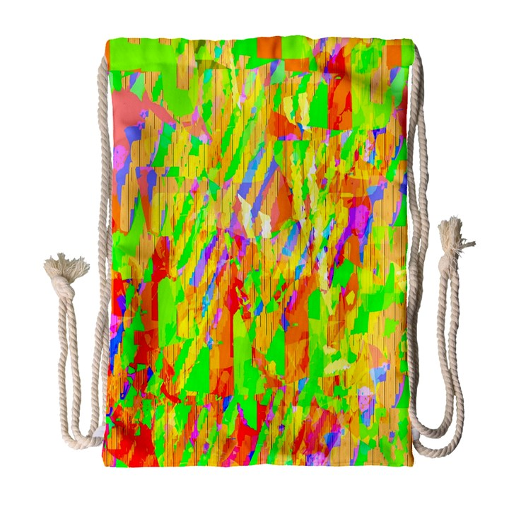 Cheerful Phantasmagoric Pattern Drawstring Bag (Large)