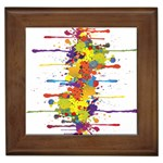 Crazy Multicolored Double Running Splashes Framed Tiles Front