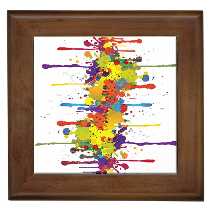 Crazy Multicolored Double Running Splashes Framed Tiles