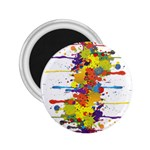 Crazy Multicolored Double Running Splashes 2.25  Magnets Front