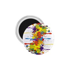Crazy Multicolored Double Running Splashes 1.75  Magnets