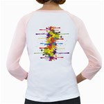 Crazy Multicolored Double Running Splashes Girly Raglans Back