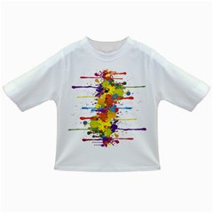 Crazy Multicolored Double Running Splashes Infant/toddler T Shirts