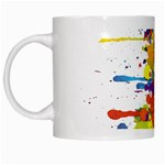 Crazy Multicolored Double Running Splashes White Mugs Left