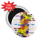Crazy Multicolored Double Running Splashes 2.25  Magnets (100 pack)  Front