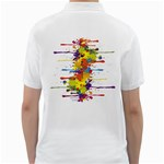 Crazy Multicolored Double Running Splashes Golf Shirts Back