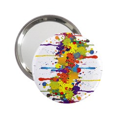 Crazy Multicolored Double Running Splashes 2 25  Handbag Mirrors