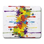 Crazy Multicolored Double Running Splashes Large Mousepads Front