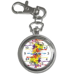Crazy Multicolored Double Running Splashes Key Chain Watches