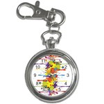 Crazy Multicolored Double Running Splashes Key Chain Watches Front