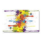 Crazy Multicolored Double Running Splashes Magnet (Rectangular) Front