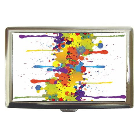 Crazy Multicolored Double Running Splashes Cigarette Money Cases