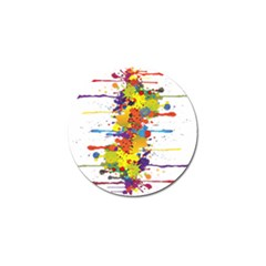 Crazy Multicolored Double Running Splashes Golf Ball Marker