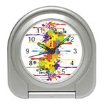 Crazy Multicolored Double Running Splashes Travel Alarm Clocks Front