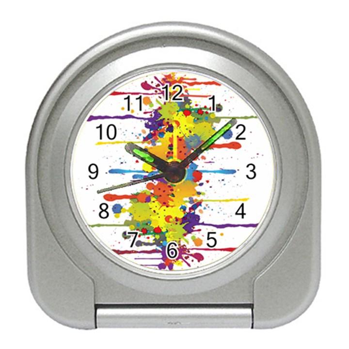 Crazy Multicolored Double Running Splashes Travel Alarm Clocks