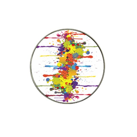 Crazy Multicolored Double Running Splashes Hat Clip Ball Marker