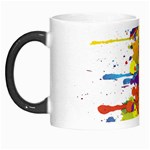 Crazy Multicolored Double Running Splashes Morph Mugs Left