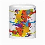 Crazy Multicolored Double Running Splashes Morph Mugs Center