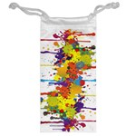Crazy Multicolored Double Running Splashes Jewelry Bags Back