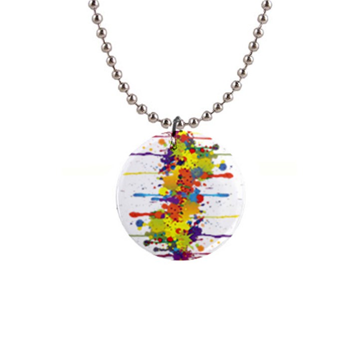 Crazy Multicolored Double Running Splashes Button Necklaces