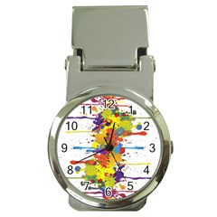 Crazy Multicolored Double Running Splashes Money Clip Watches