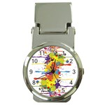 Crazy Multicolored Double Running Splashes Money Clip Watches Front