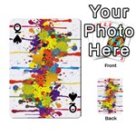 Crazy Multicolored Double Running Splashes Playing Cards 54 Designs  Front - SpadeQ