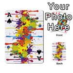 Crazy Multicolored Double Running Splashes Playing Cards 54 Designs  Front - SpadeA