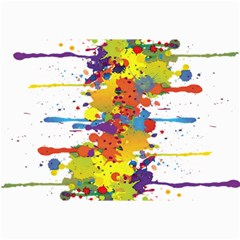 Crazy Multicolored Double Running Splashes Collage Prints