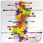 Crazy Multicolored Double Running Splashes Canvas 20  x 20   20 x20 Canvas - 1