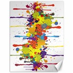 Crazy Multicolored Double Running Splashes Canvas 36  x 48   48 x36 Canvas - 1