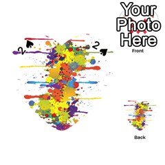 Crazy Multicolored Double Running Splashes Playing Cards 54 (Heart)