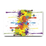 Crazy Multicolored Double Running Splashes Small Doormat  24 x16 Door Mat - 1