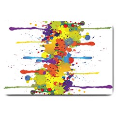 Crazy Multicolored Double Running Splashes Large Doormat